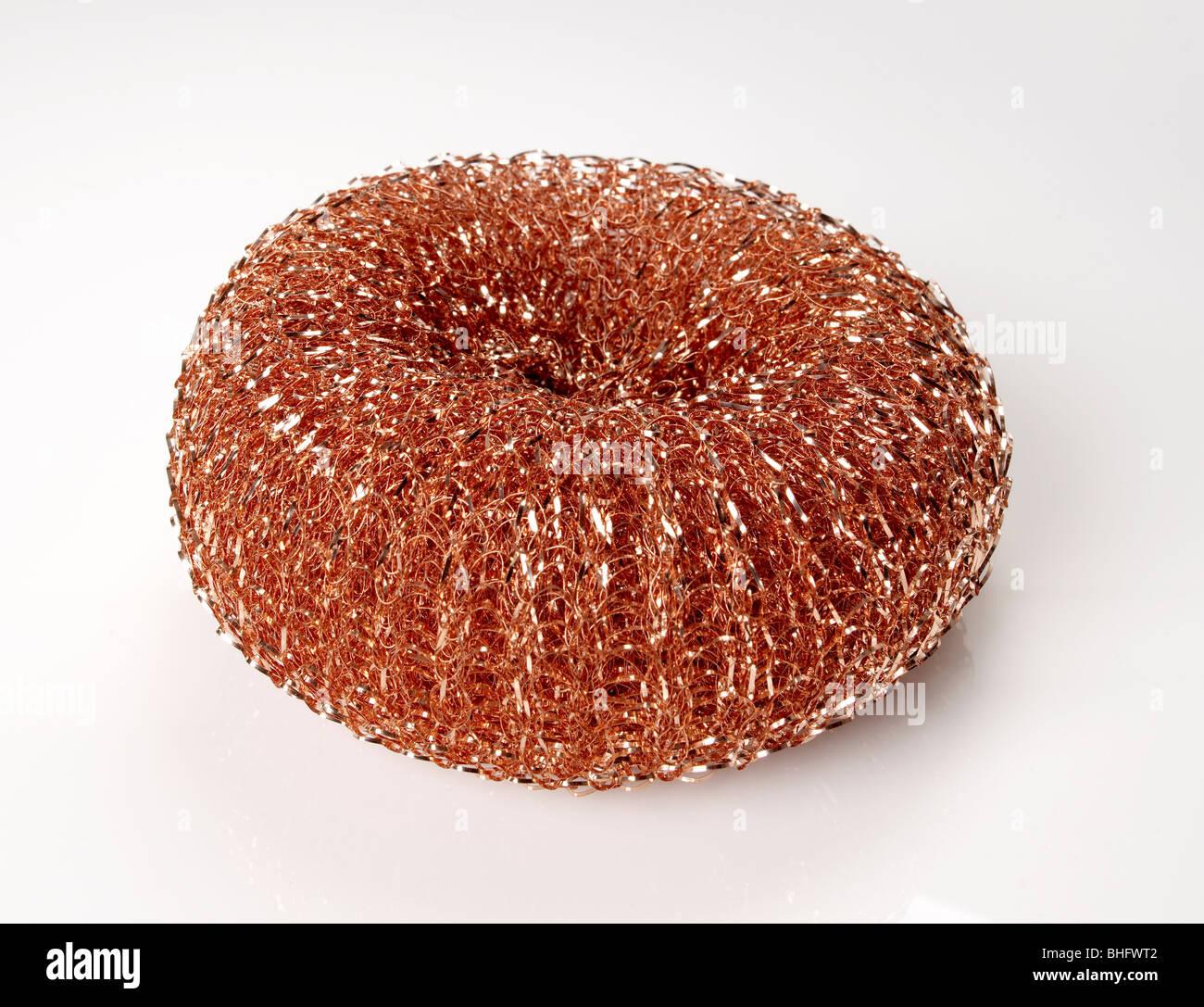 Copper wire Scrubbing pad - Stock Image