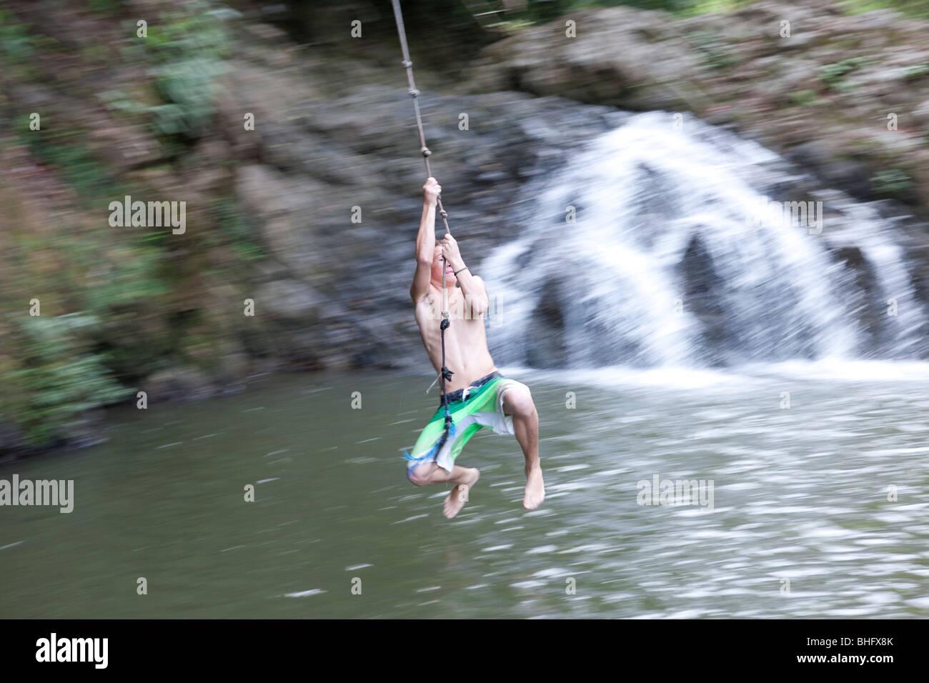 Montezuma Waterfalls in Costa Rica - Stock Image