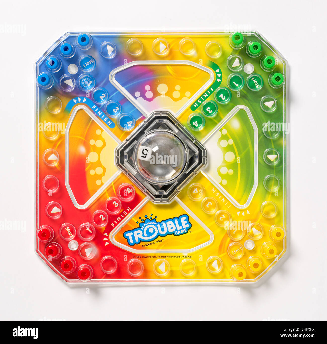 Trouble game board - Stock Image