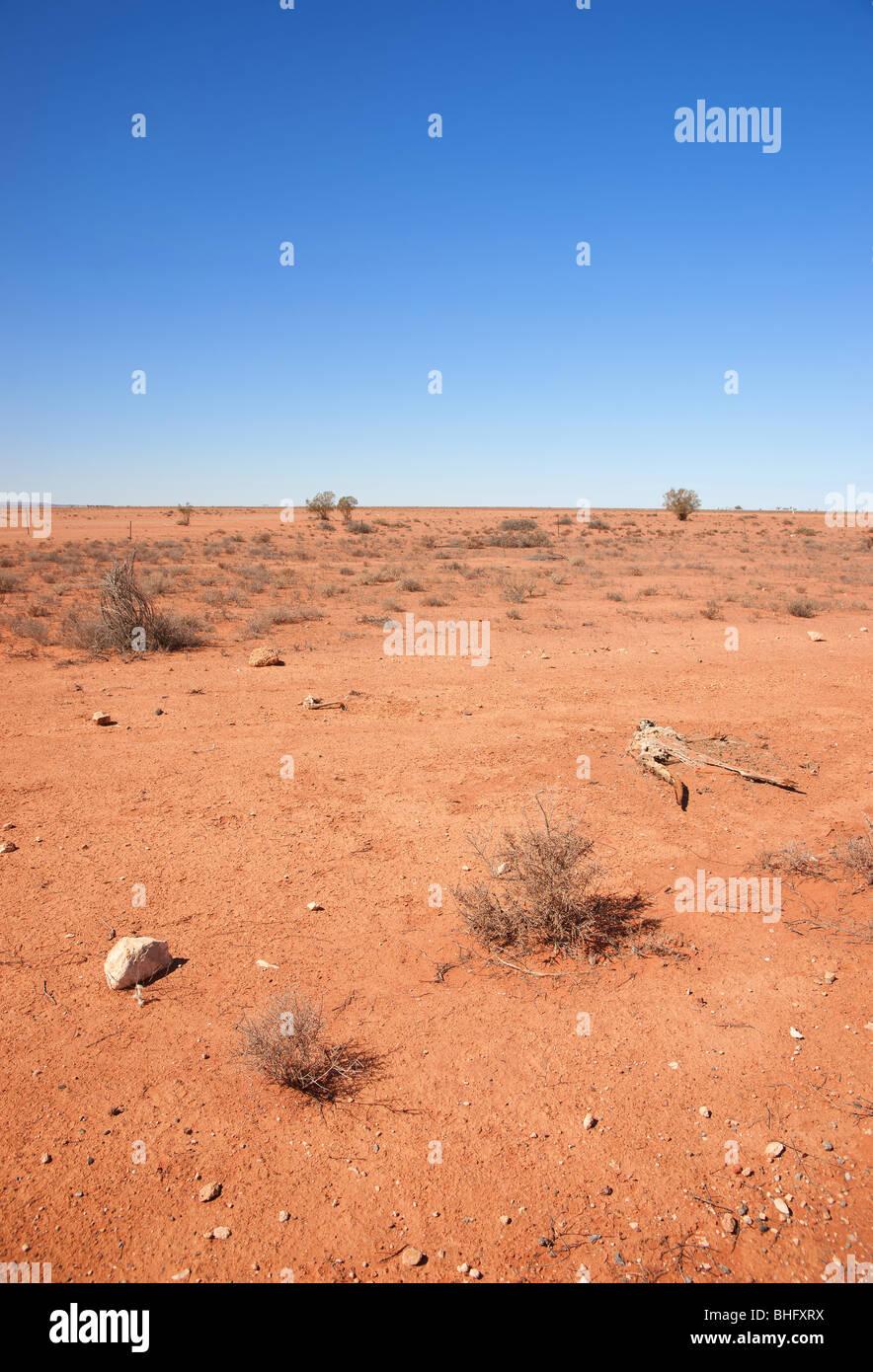 australian desert out of broken hill - Stock Image