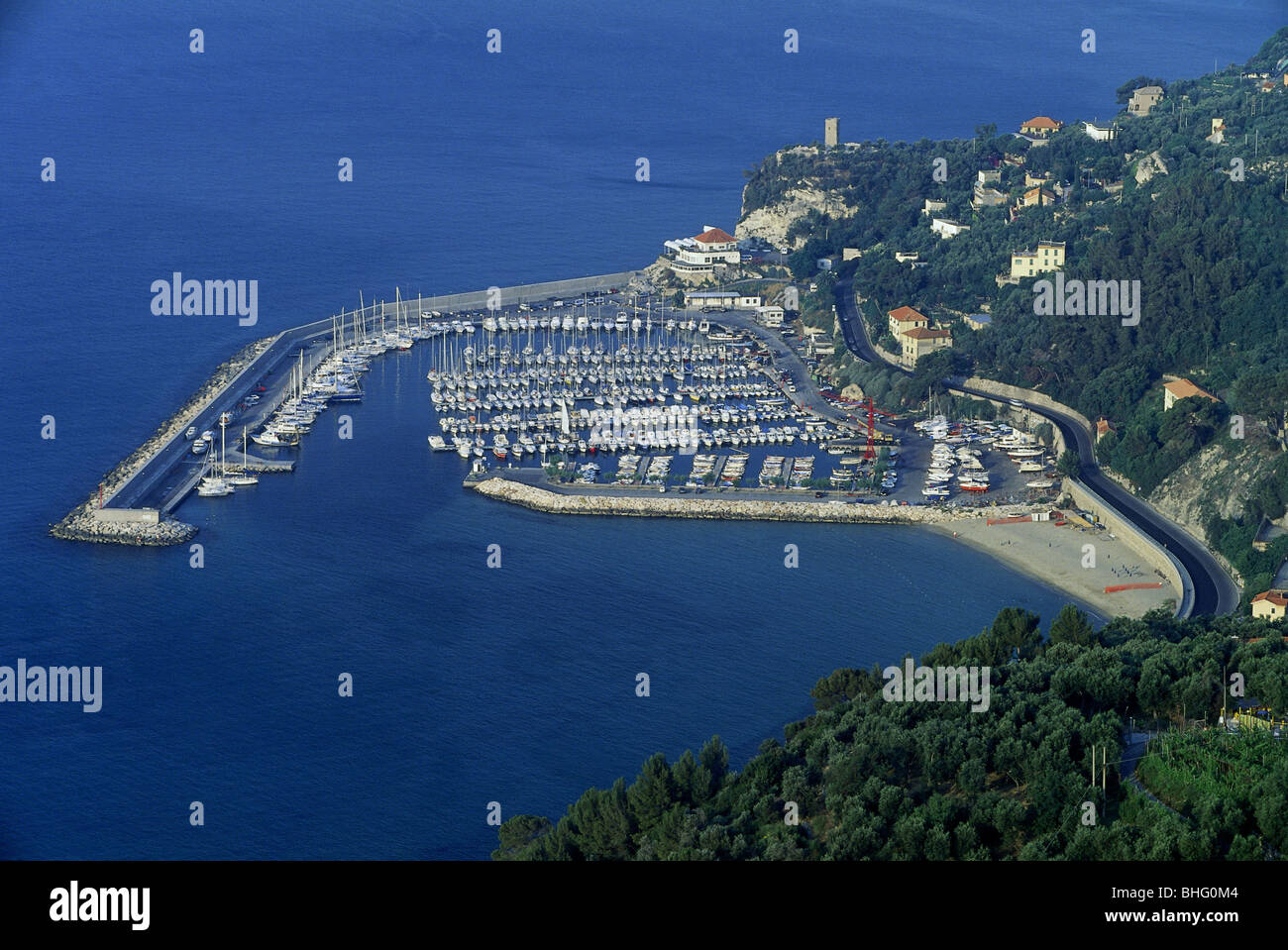 geography / travel, Italy, Finale Ligure, Finale Pia, harbour, Additional-Rights-Clearance-Info-Not-Available - Stock Image