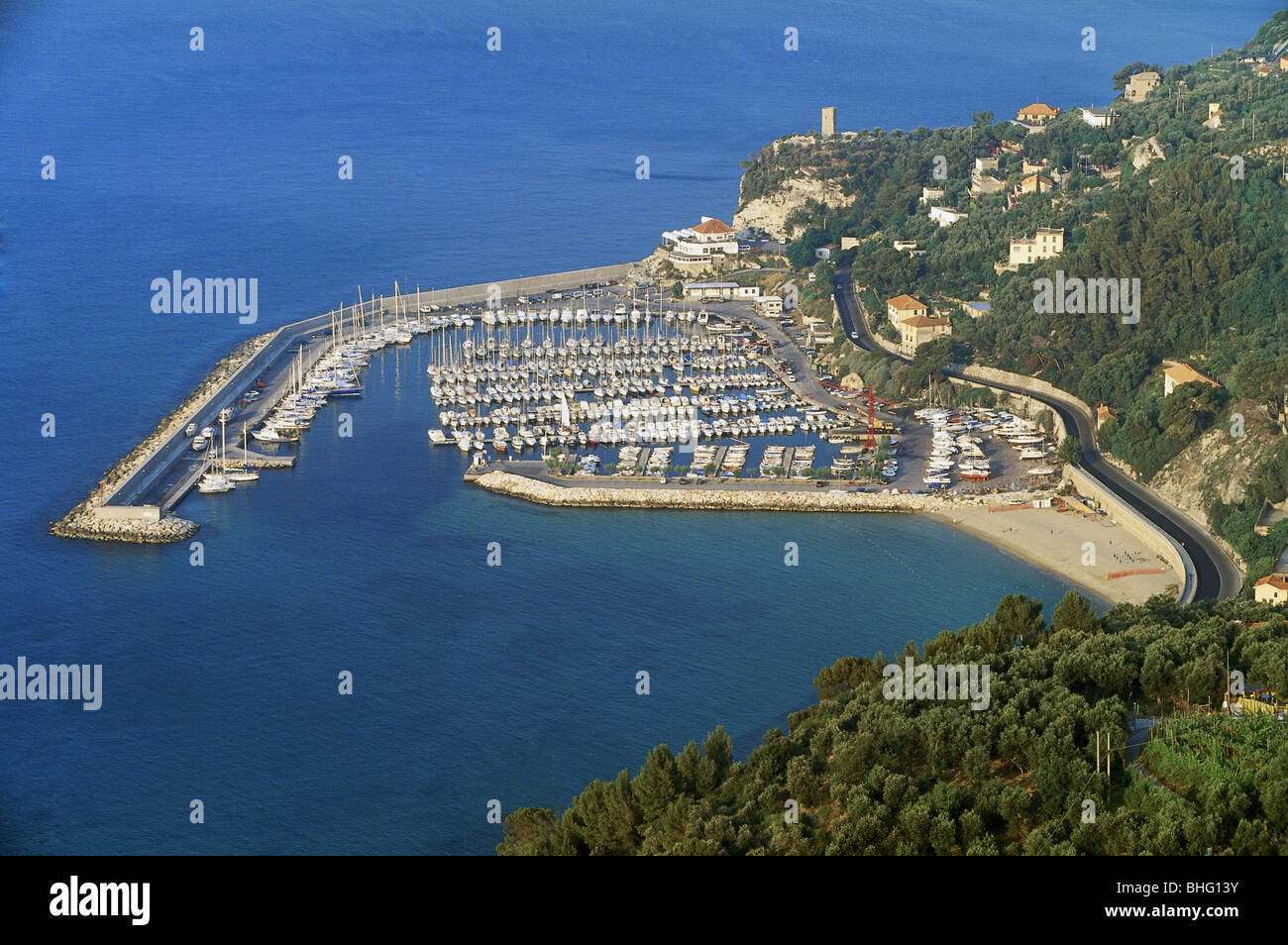 geography / travel, Italy, Finale Ligure, Finale Pia, harbour, Additional-Rights-Clearance-Info-Not-Available Stock Photo