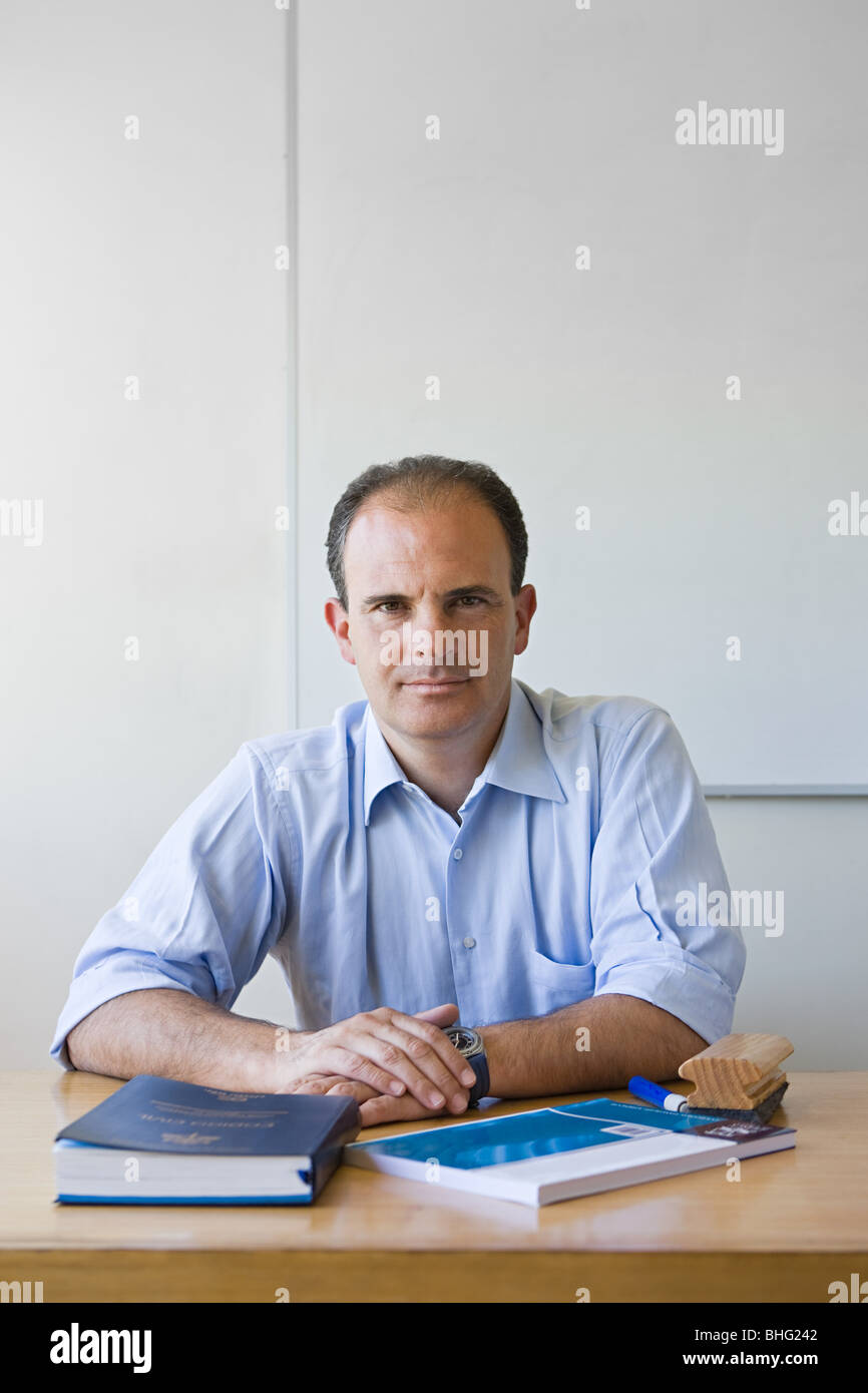 Portrait of a teacher - Stock Image