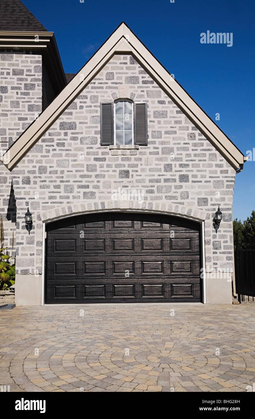 Residential garage - Stock Image