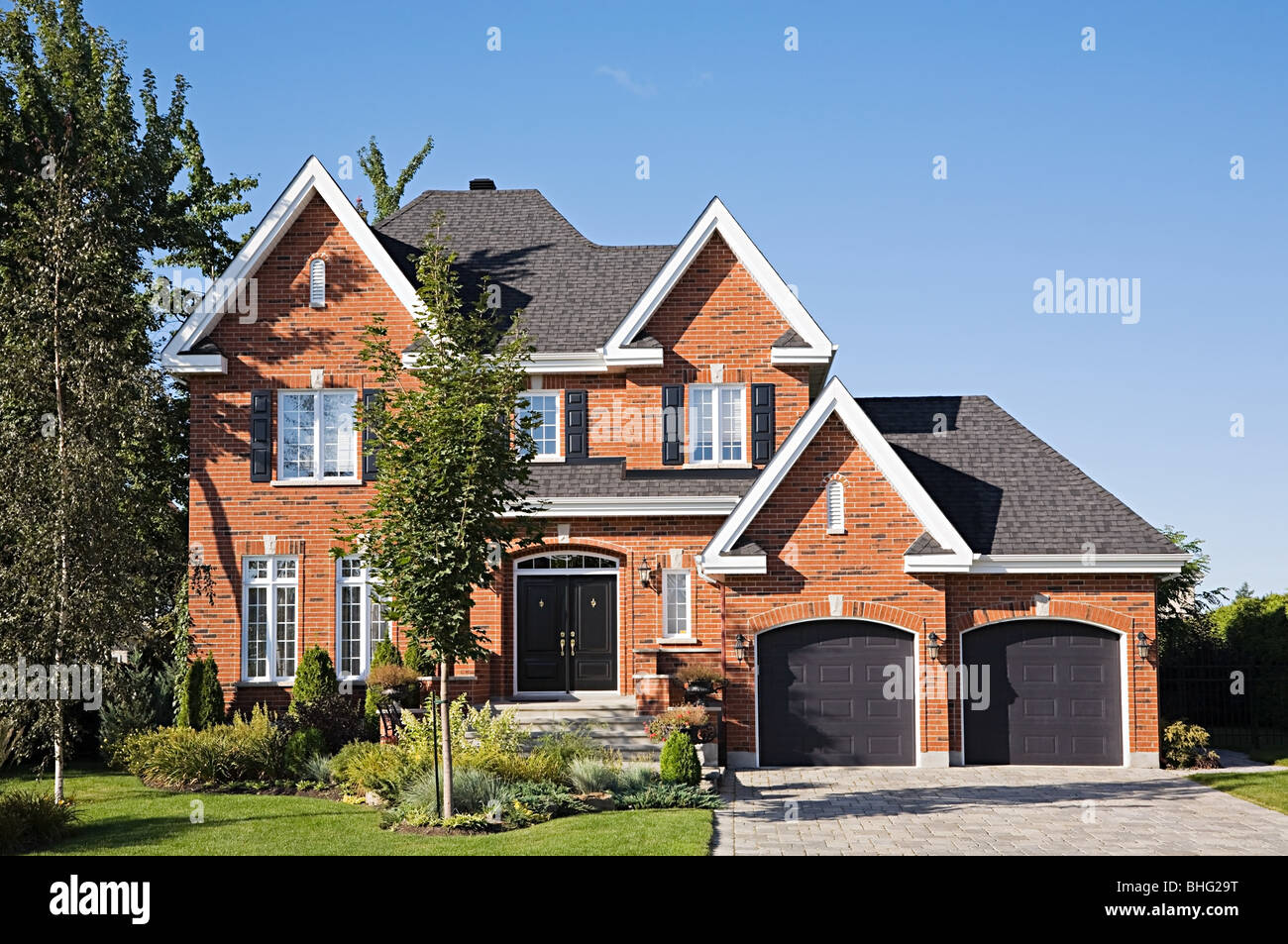 Exterior of a large house - Stock Image