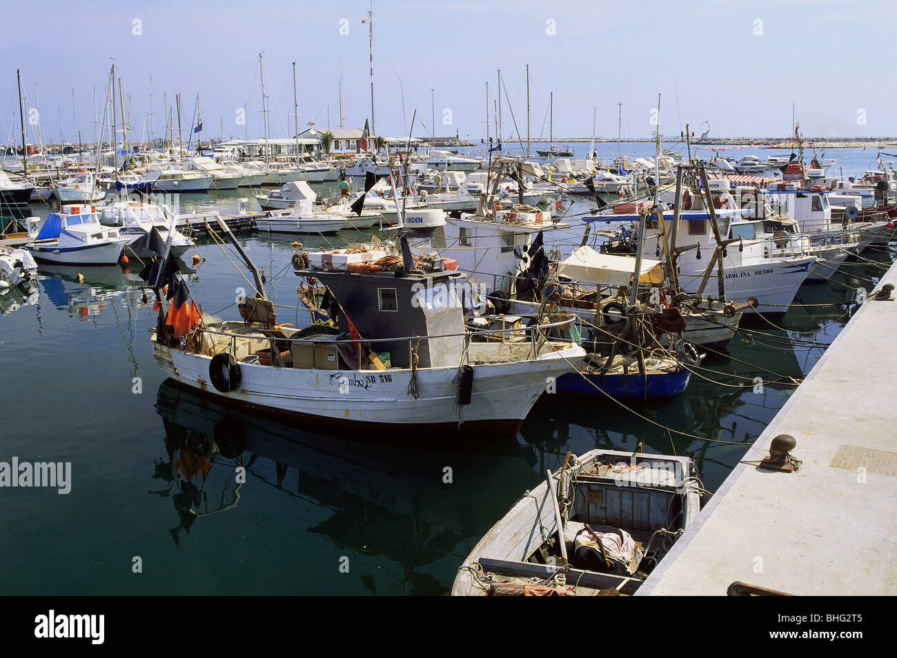 geography / travel, Italy, San Benedetto del Tronto, harbour, fishing port, Additional-Rights-Clearance-Info-Not Stock Photo