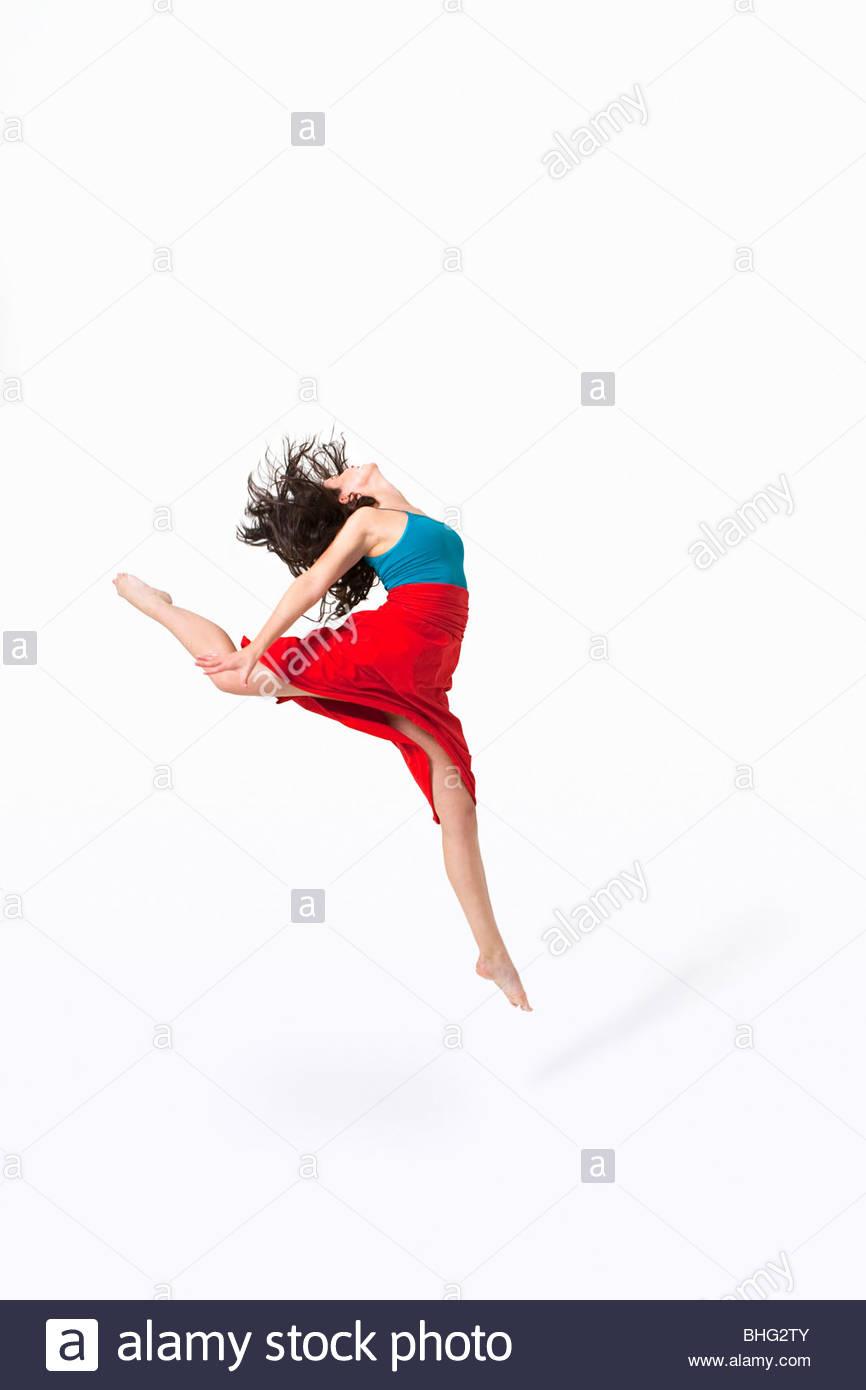 Dancer jumping - Stock Image