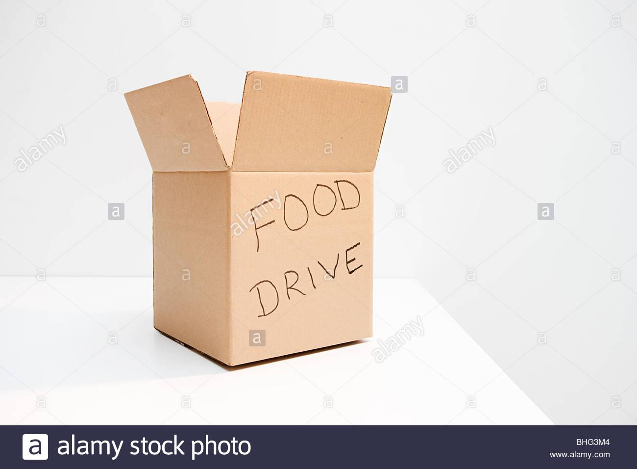 Food drive box - Stock Image