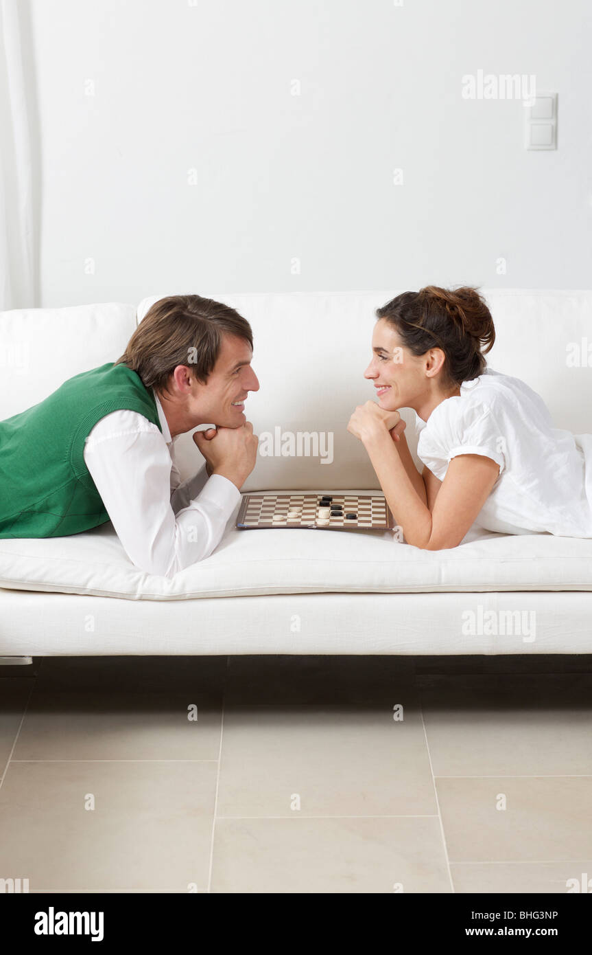 when lovers play games - Stock Image