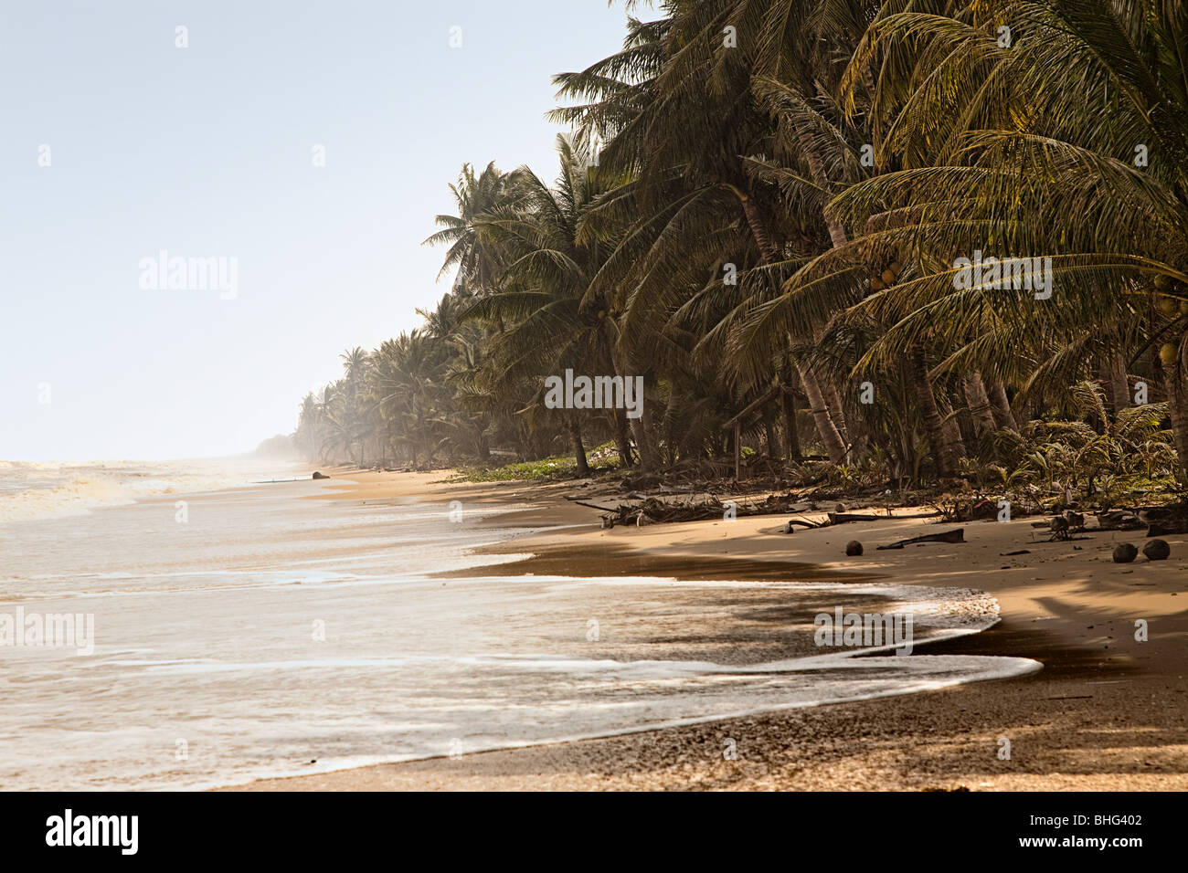 Beach at the gulf of thailand - Stock Image