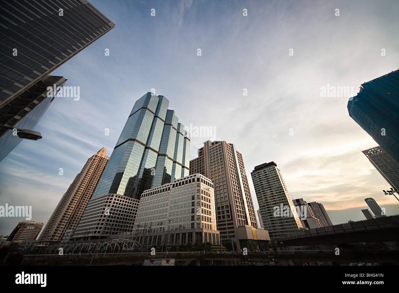 Central business district bangkok - Stock Image
