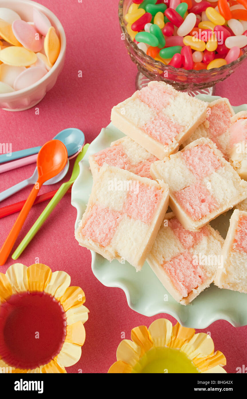 Birthday party food - Stock Image
