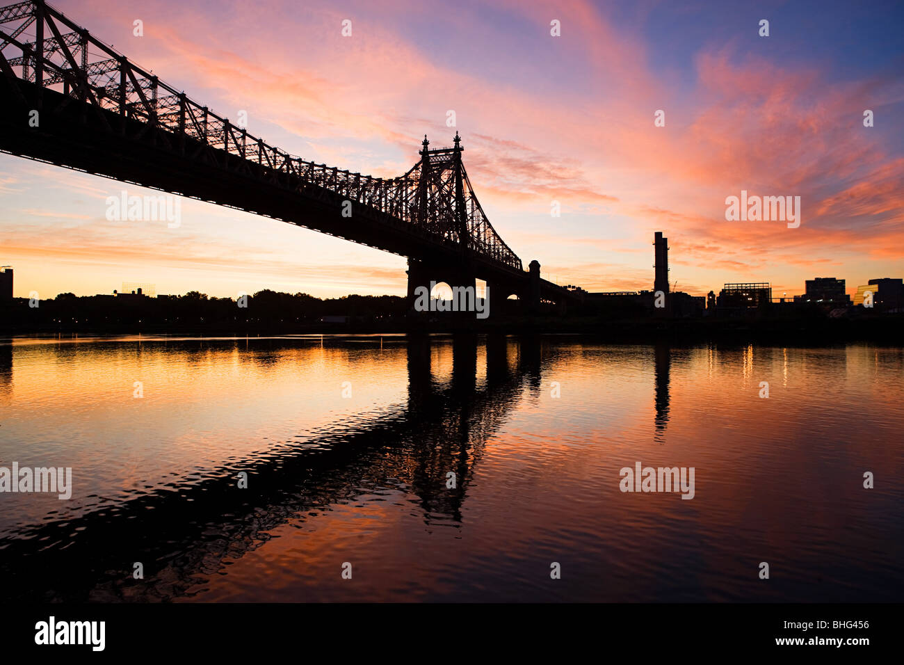 Queensboro bridge new york - Stock Image