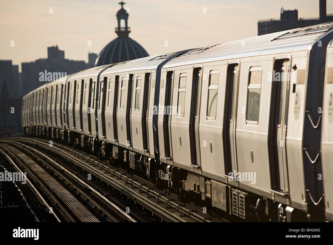 New york subway train - Stock Image