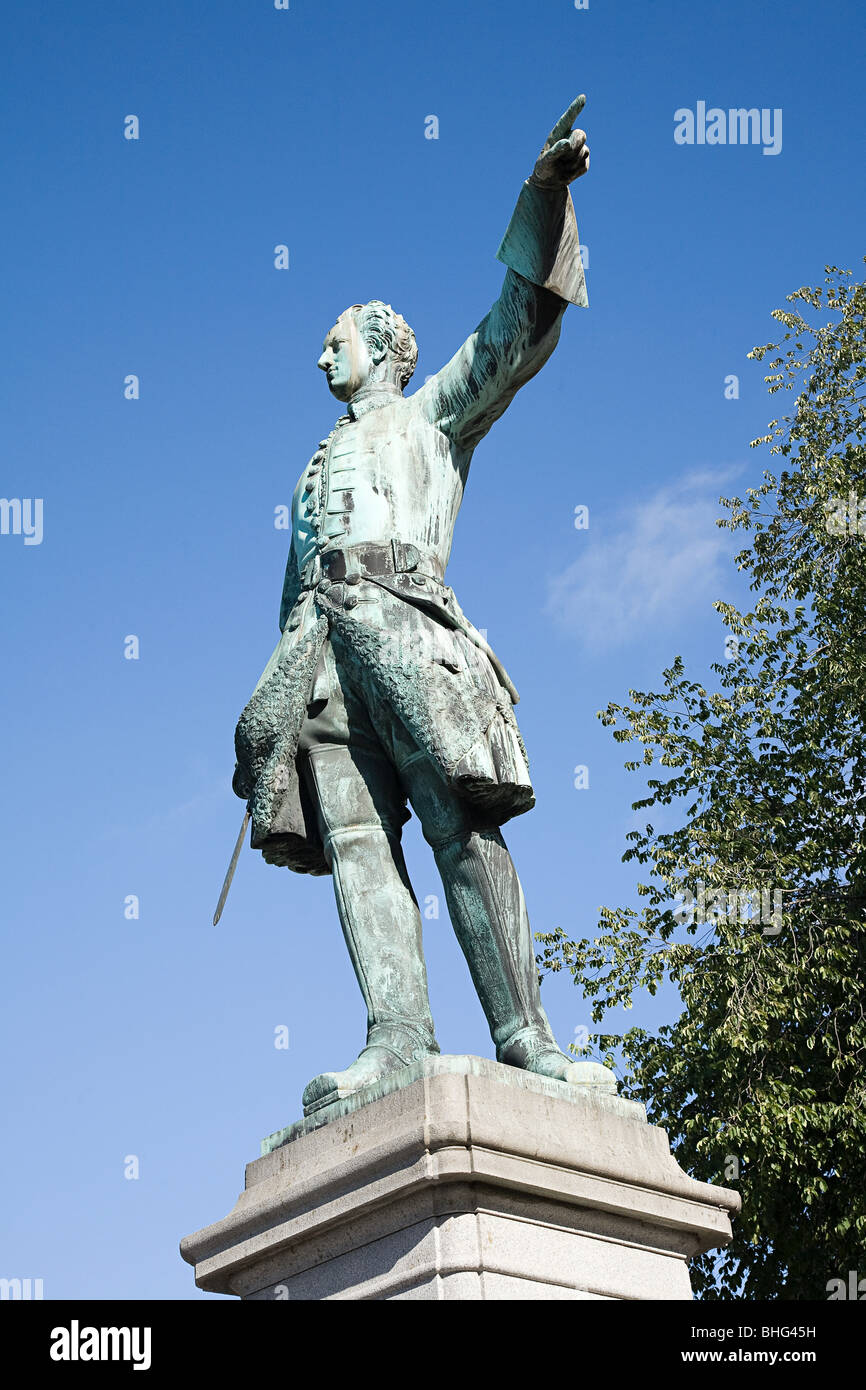 Karl XII statue in stockholm - Stock Image