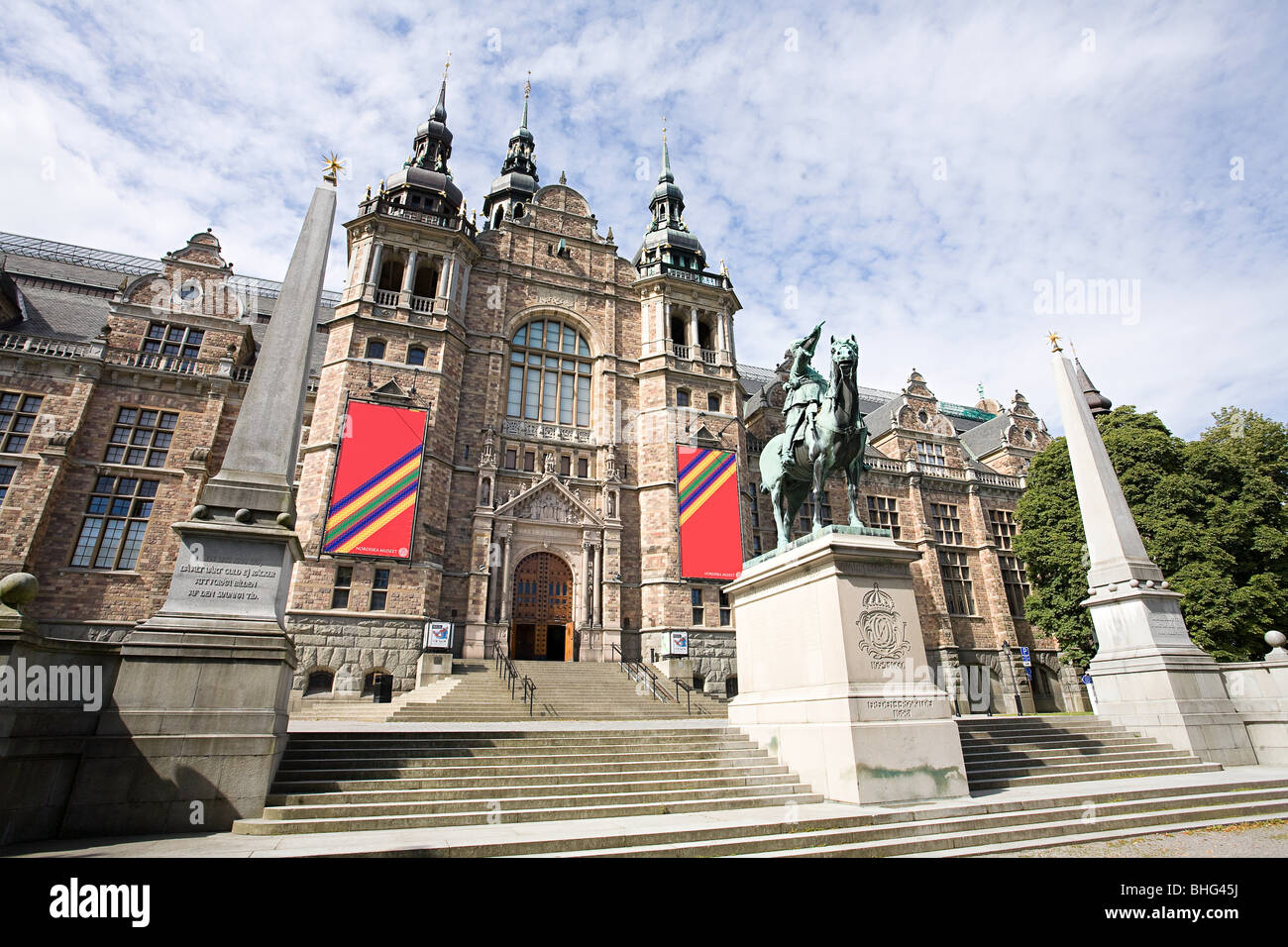 Nordic museum in stockholm - Stock Image