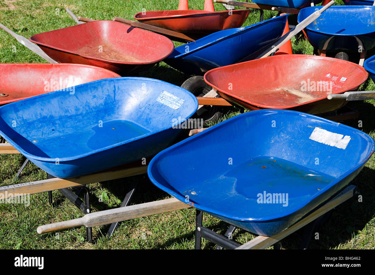 Wheelbarrows - Stock Image