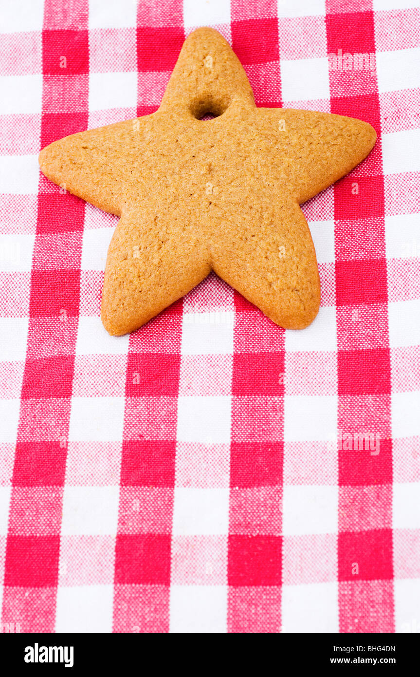Star shaped cookie - Stock Image