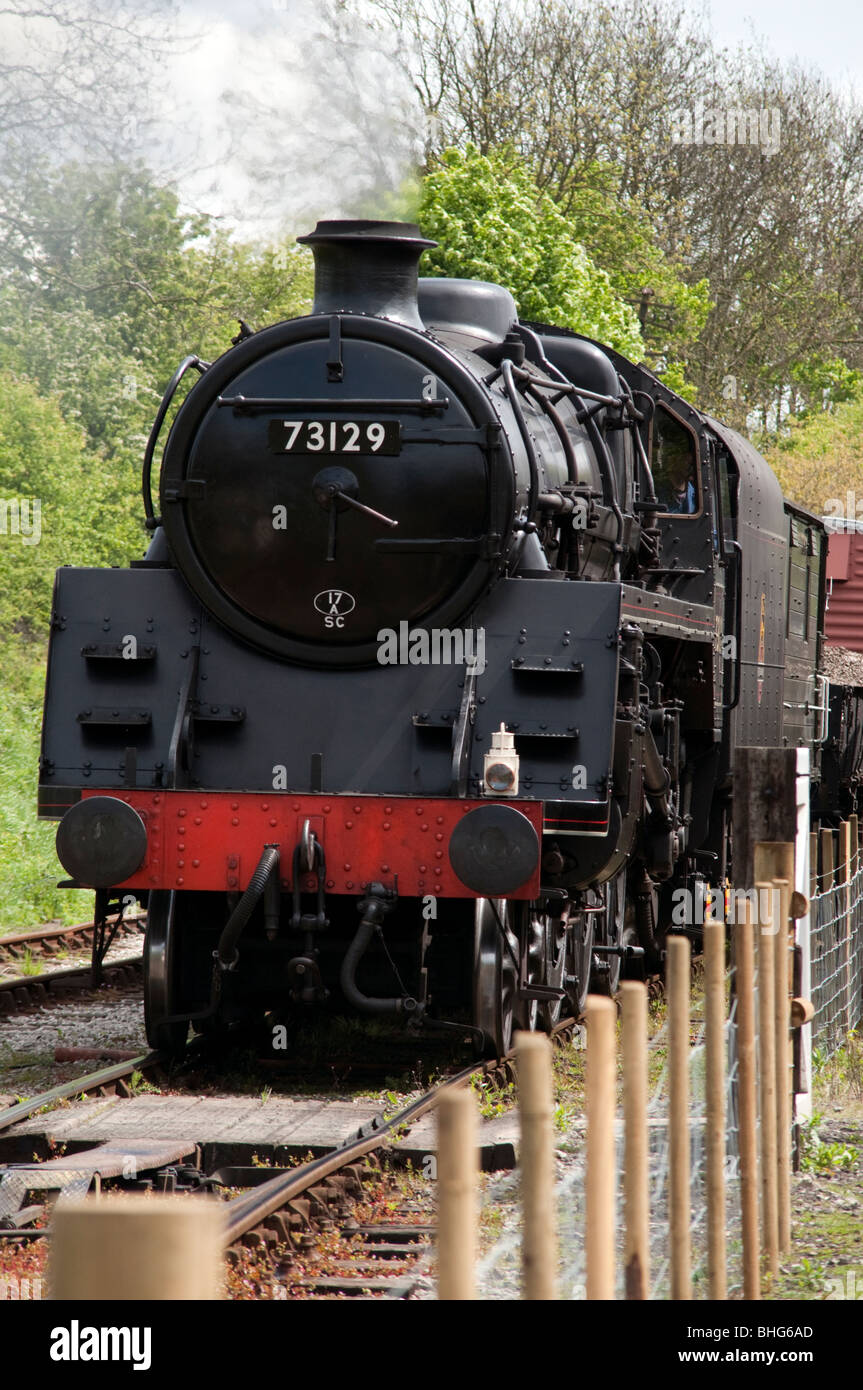 Steam and Diesel trains at  Swanwick Junction Butterley   Midland Railway Center in Derbyshire, England - Stock Image