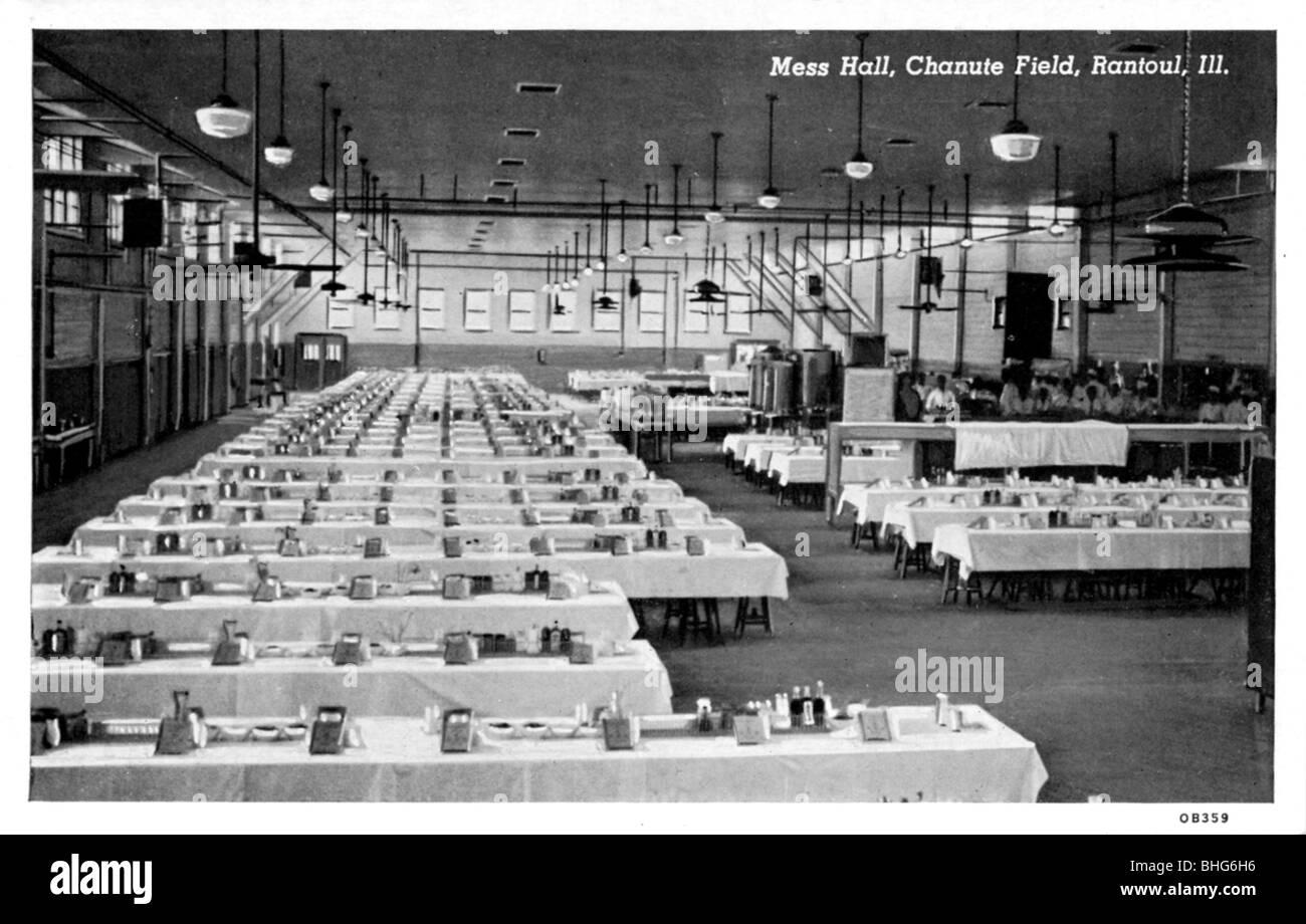 Mess hall, Chanute airfield, Rantoul, Ilinois, USA. - Stock Image