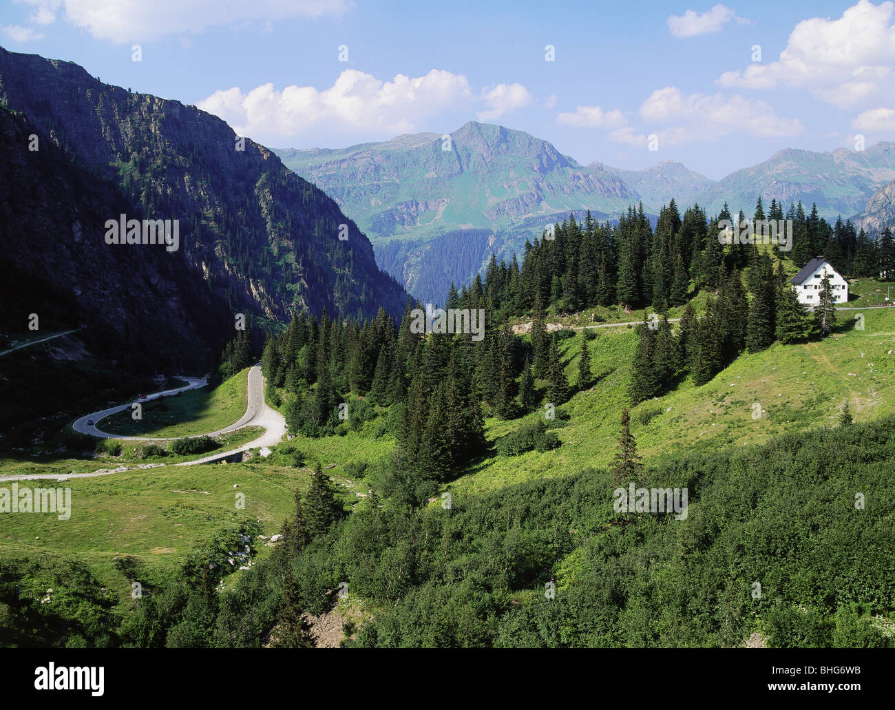 geography / travel, Austria, landscapes, view of the Lower Vermunt Valley near Vermunt Storage Lake, Silvretta High - Stock Image
