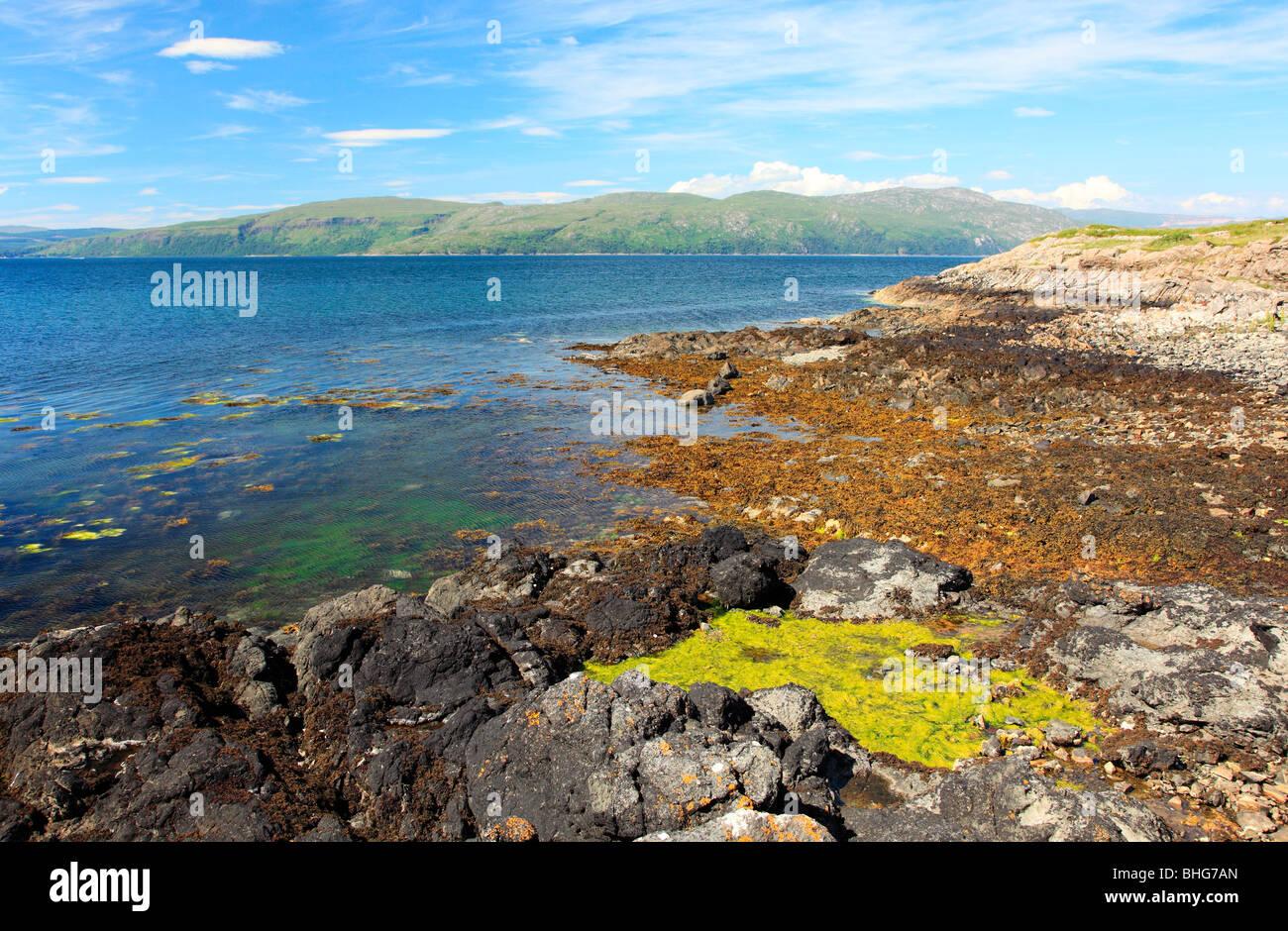 Coast of mull - Stock Image