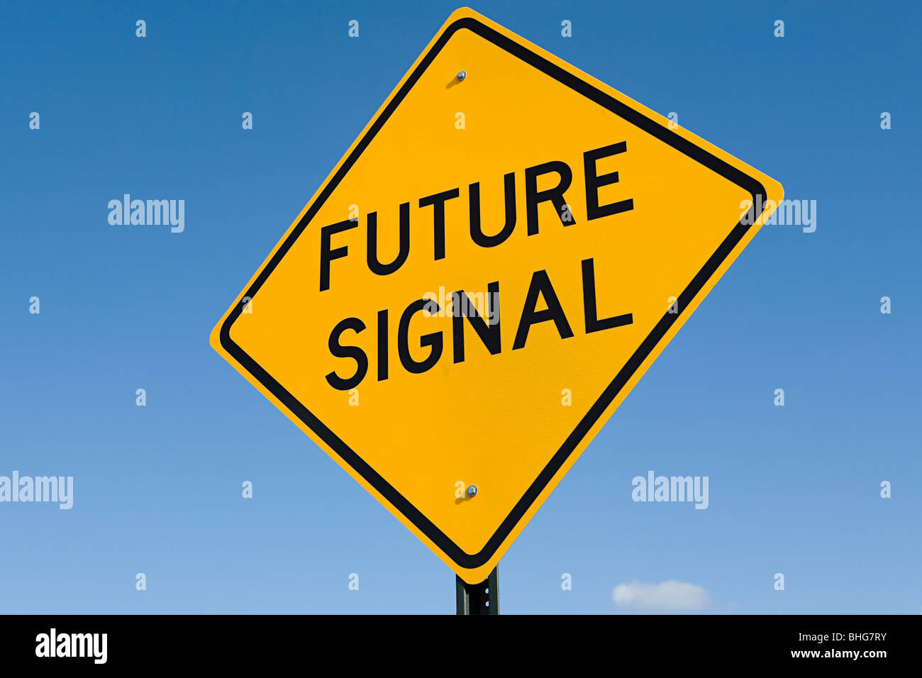 Future signal sign - Stock Image