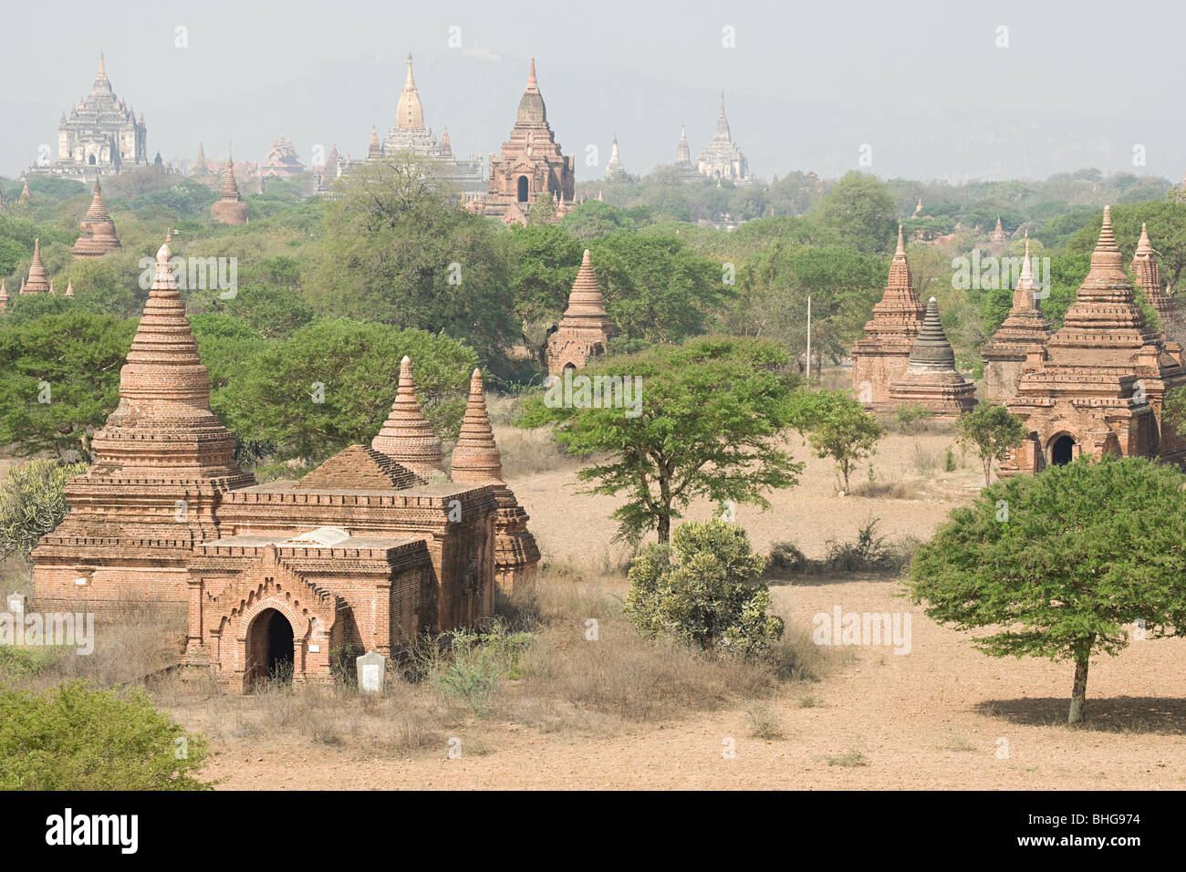Ancient city of bagan in burma Stock Photo