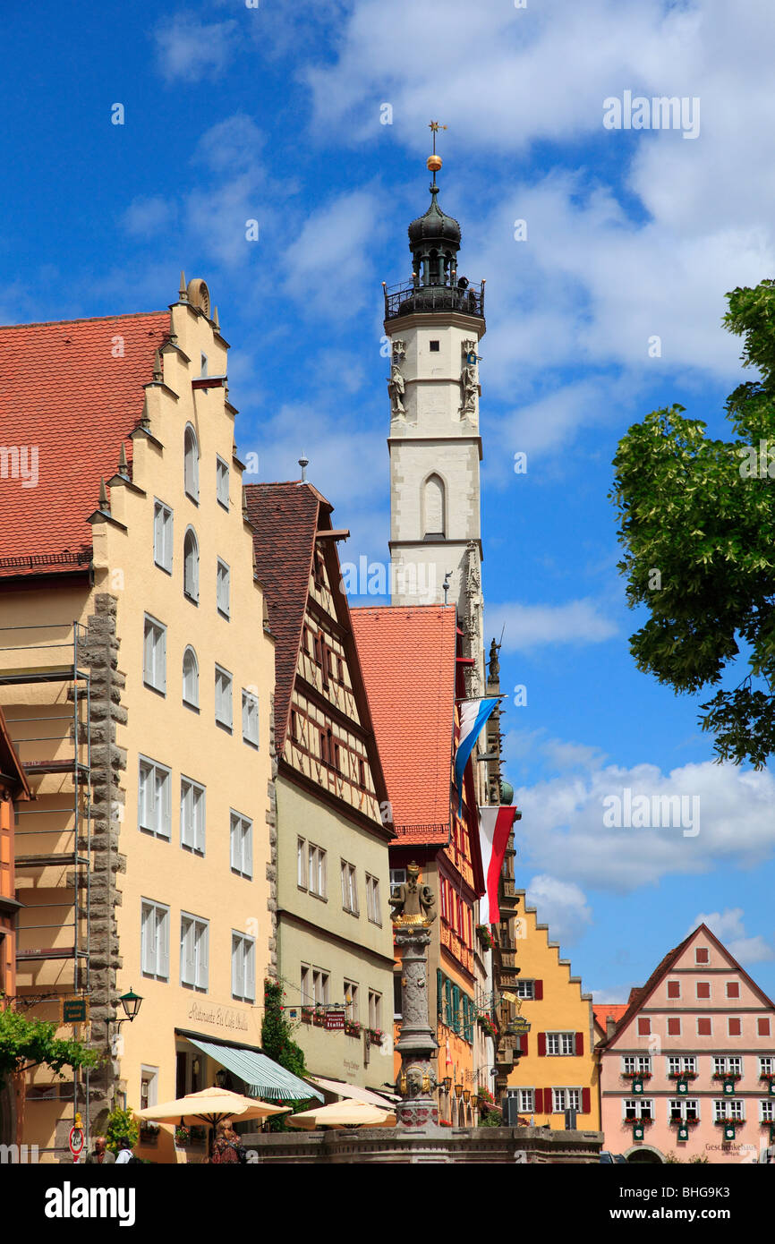 Buildings in a traditional german town - Stock Image