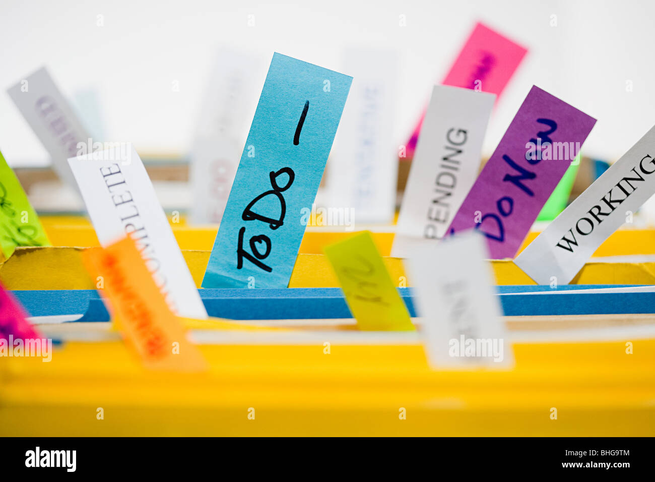 Files with labels - Stock Image