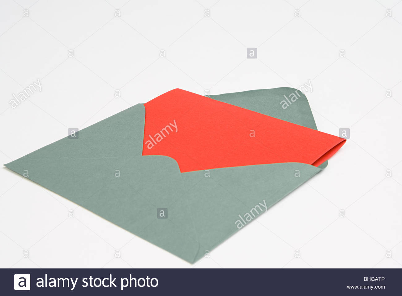 Red card in envelope - Stock Image