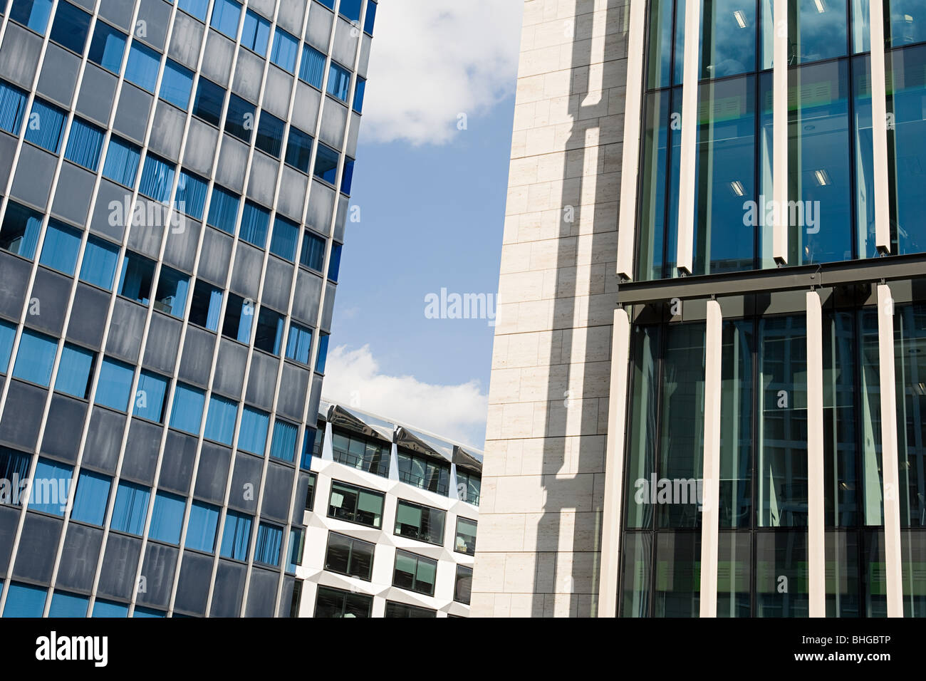 Facades of an office building - Stock Image