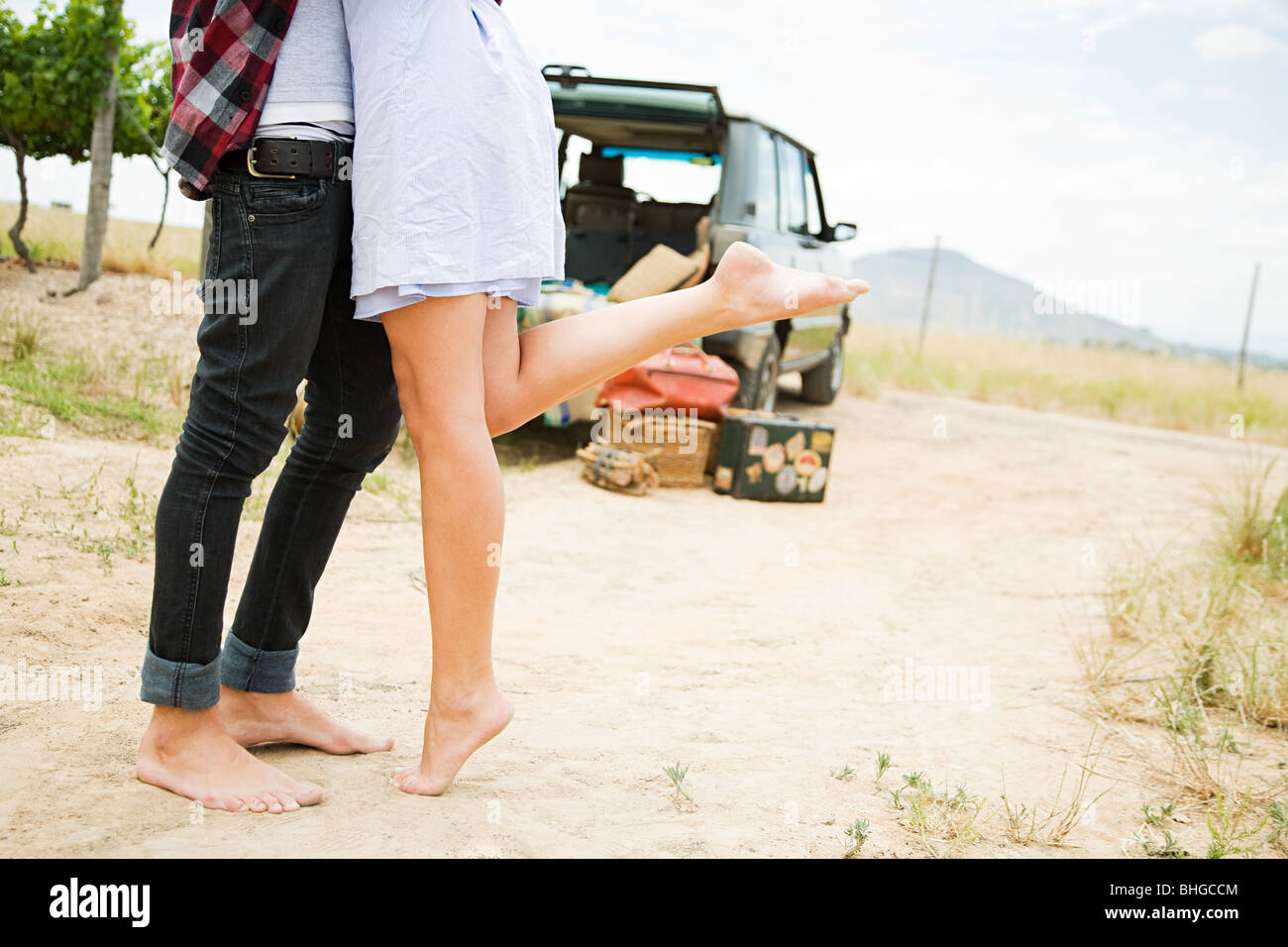 Cropped view of couple - Stock Image