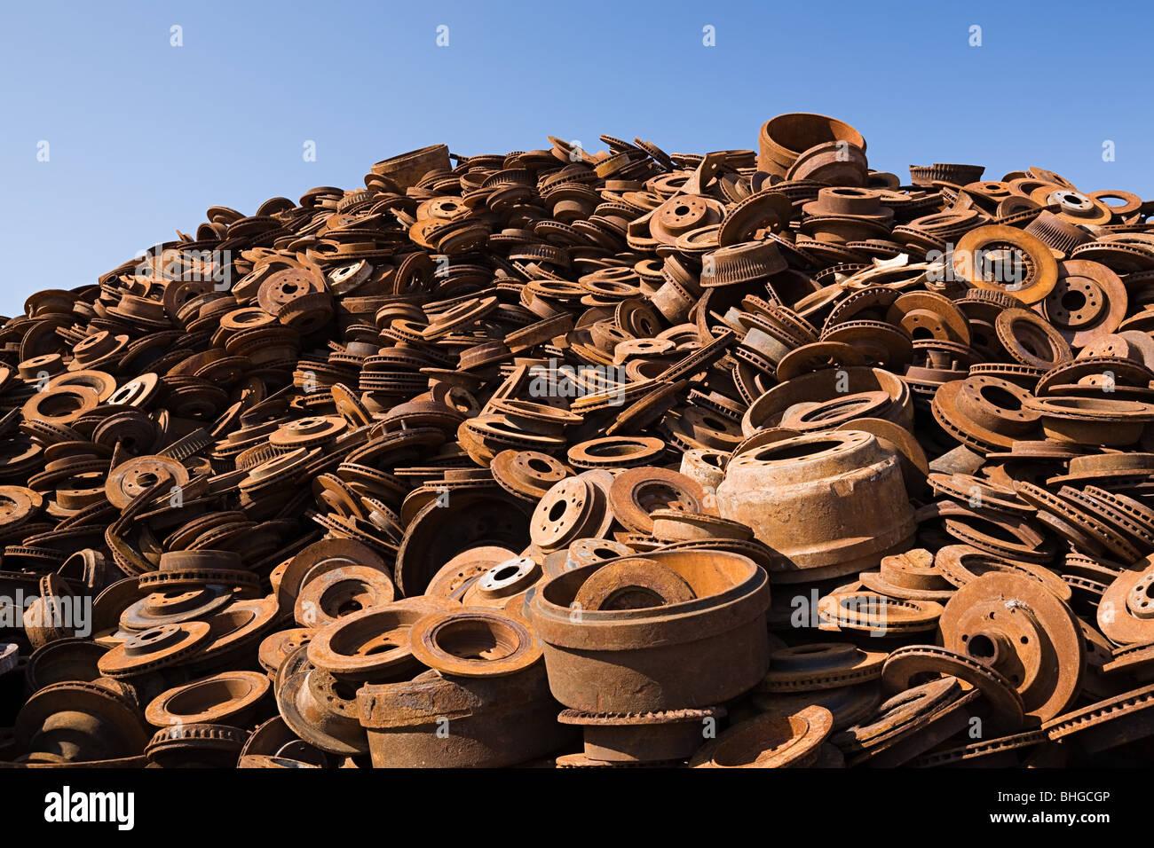Stack of rusting metal - Stock Image