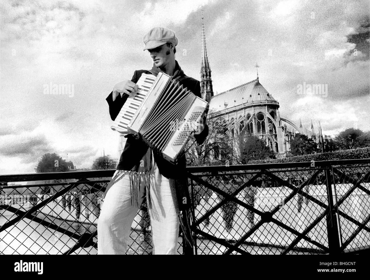 Accordion Player - Stock Image