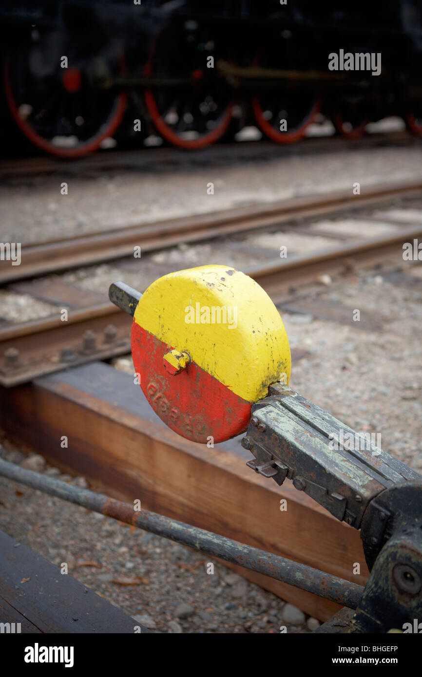 Points on a railway, Sweden. - Stock Image