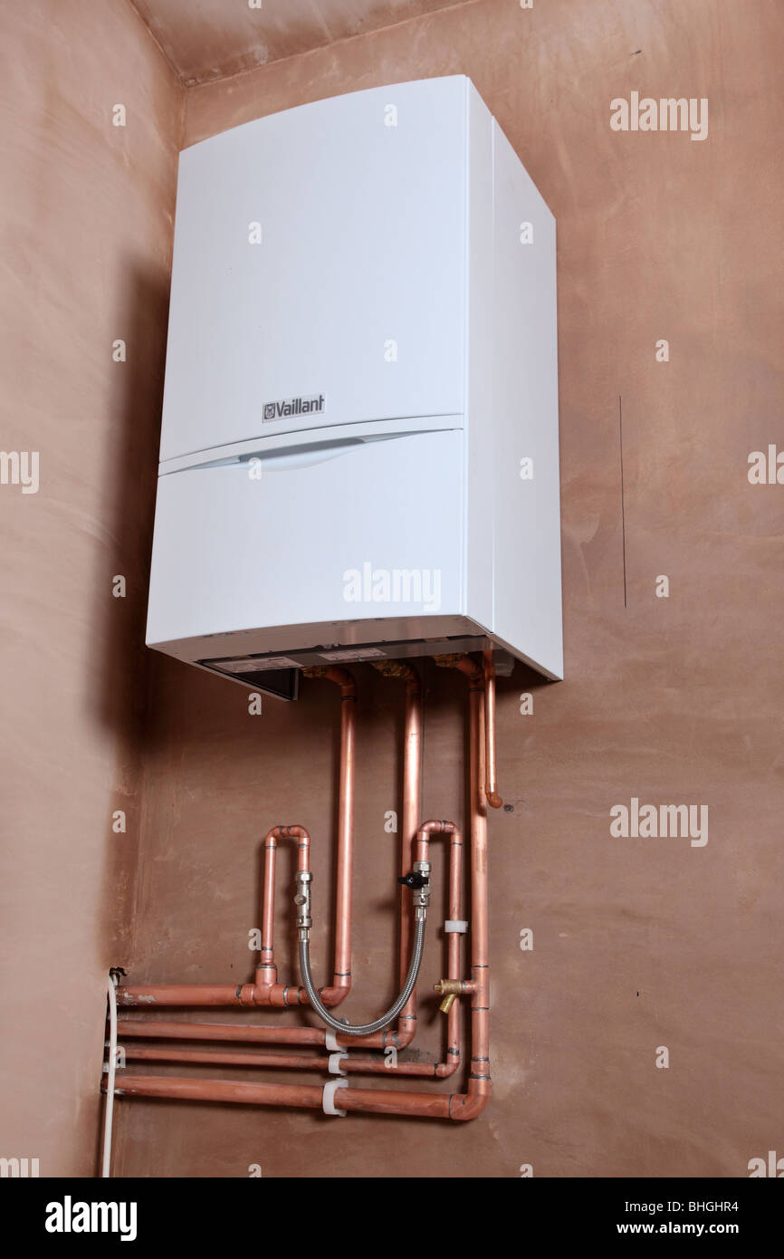 Installation of a new Vaillant ecotech 637 condensing boiler Stock ...