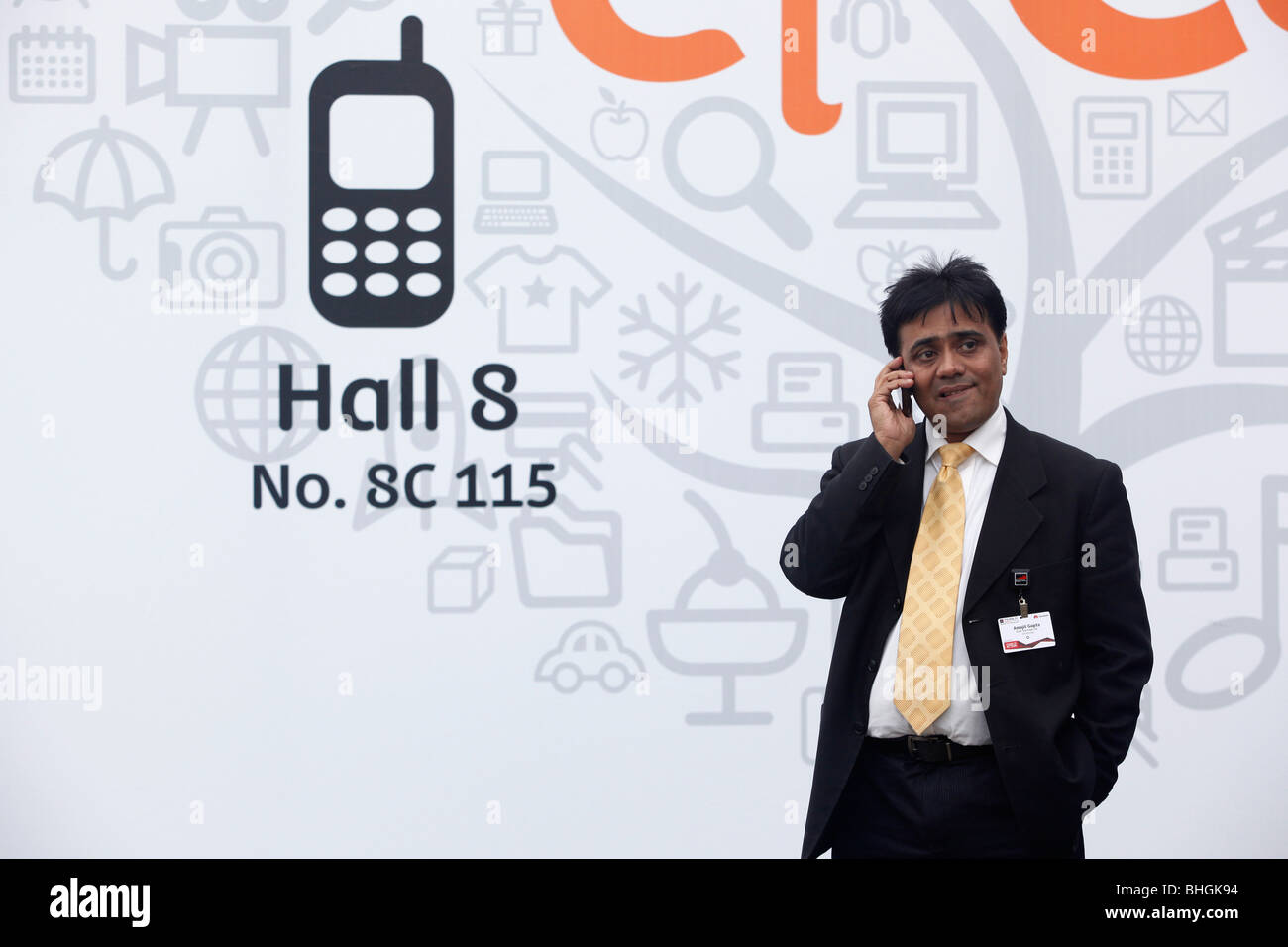 The Mobile World Congress 2010 reunites the latest developments in wireless industry. - Stock Image