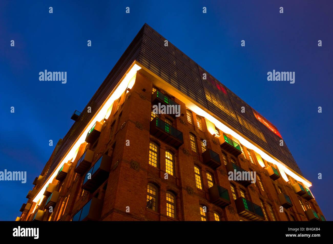 Hamburger Speicherstadtdetail bei Nacht - Stock Image
