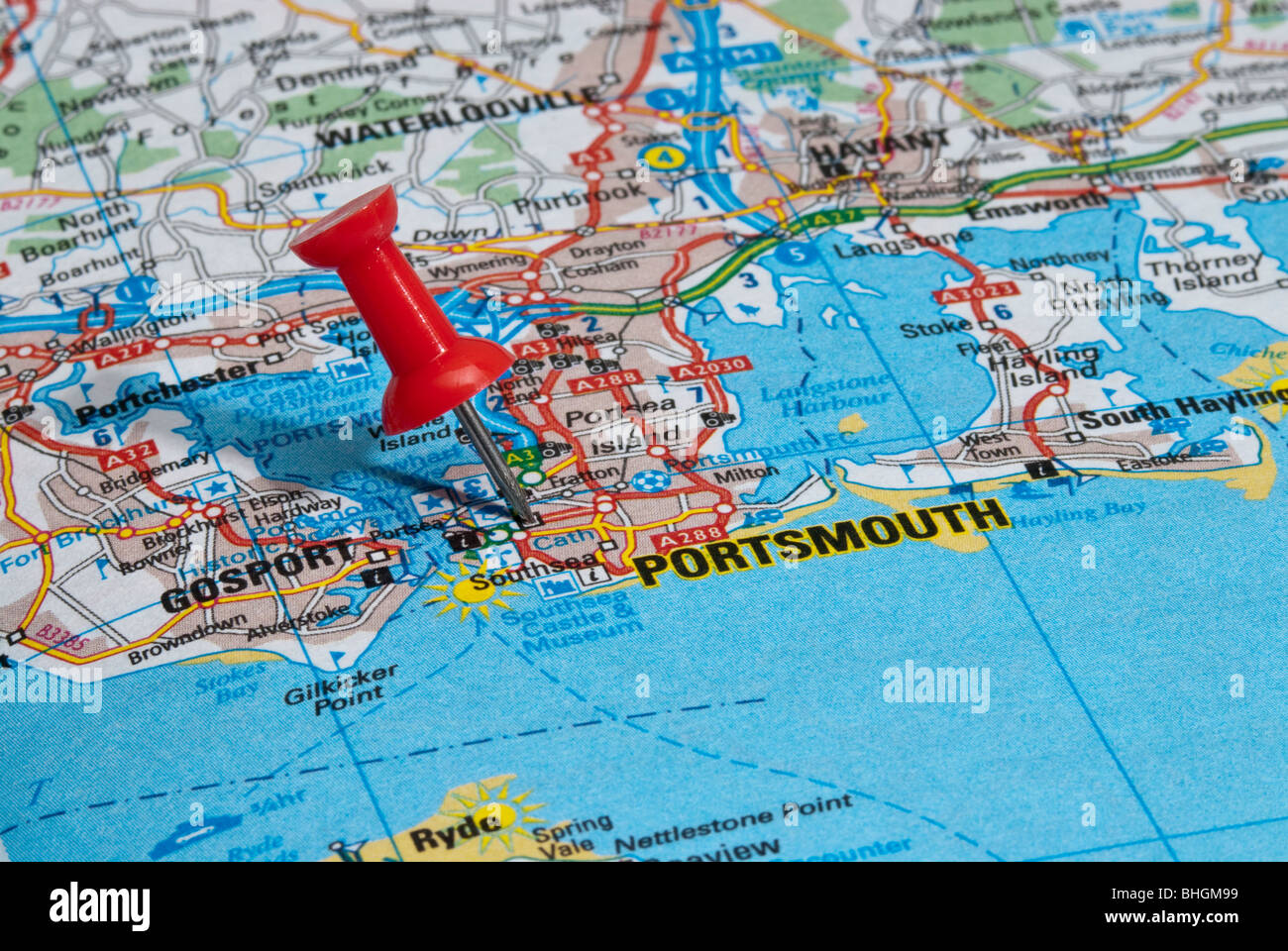 Map Of England Portsmouth.Map Of Portsmouth England Stock Photos Map Of Portsmouth England