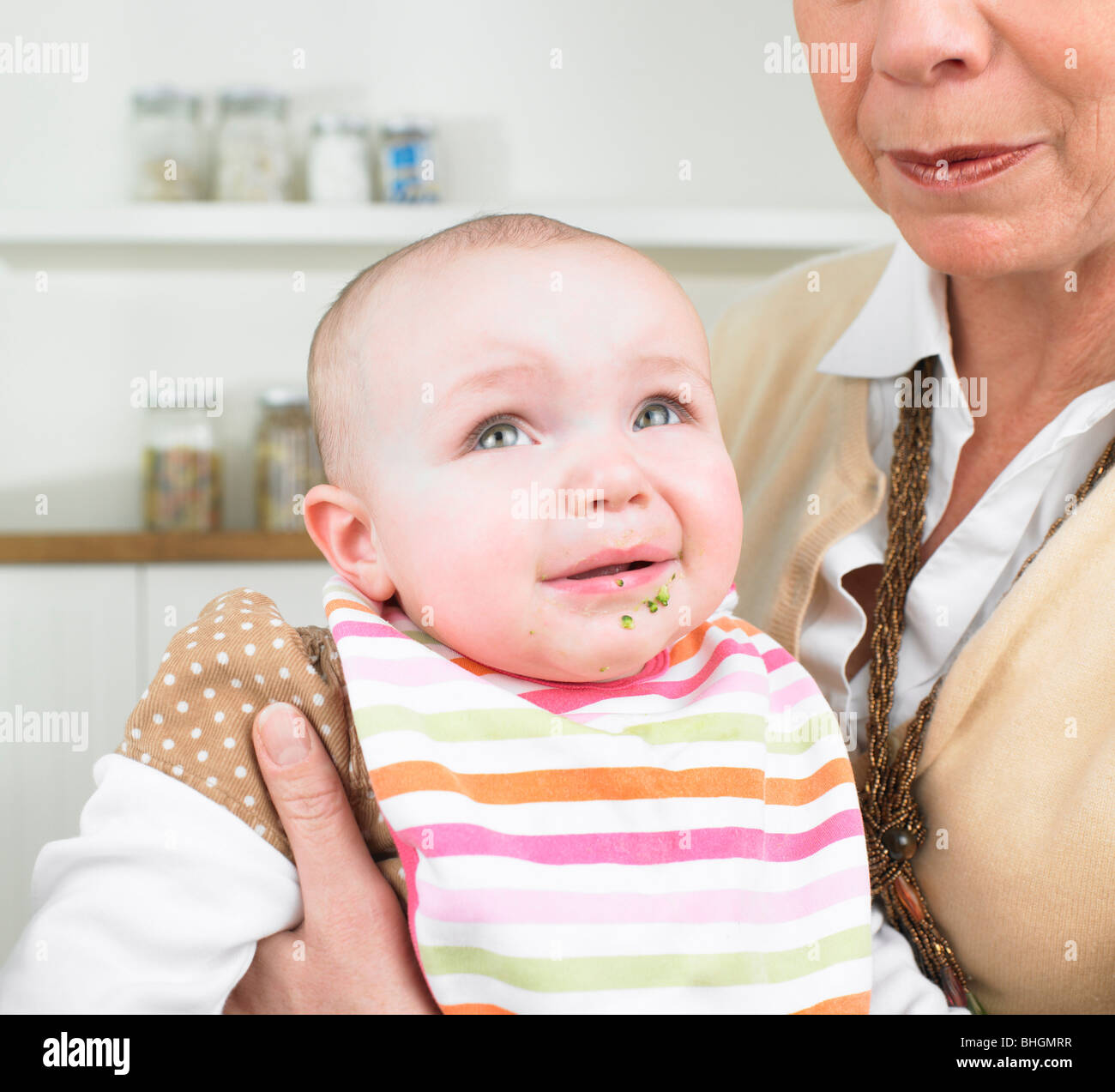 Grandmother and baby - Stock Image