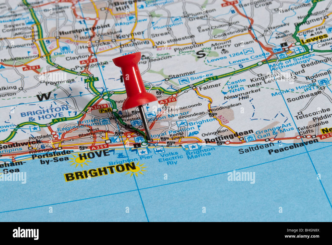 Uk Map Brighton Stock Photos Uk Map Brighton Stock Images Alamy