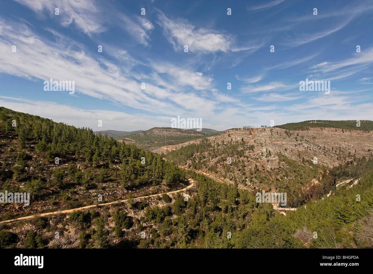 Israel, Jerusalem Mountains. Scenery at Begin Park - Stock Image