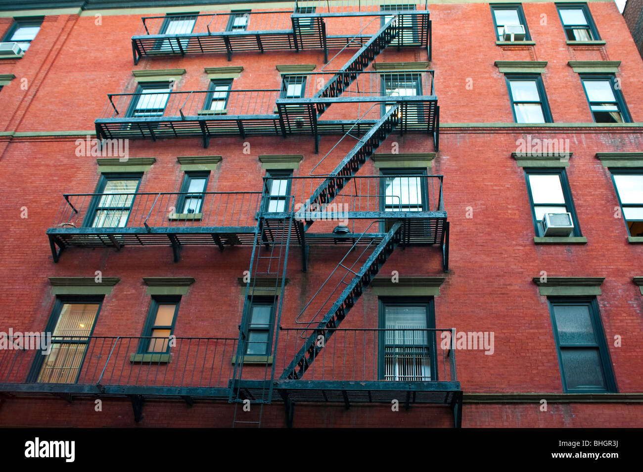 Old Brick Apartment Buildings In A Big City