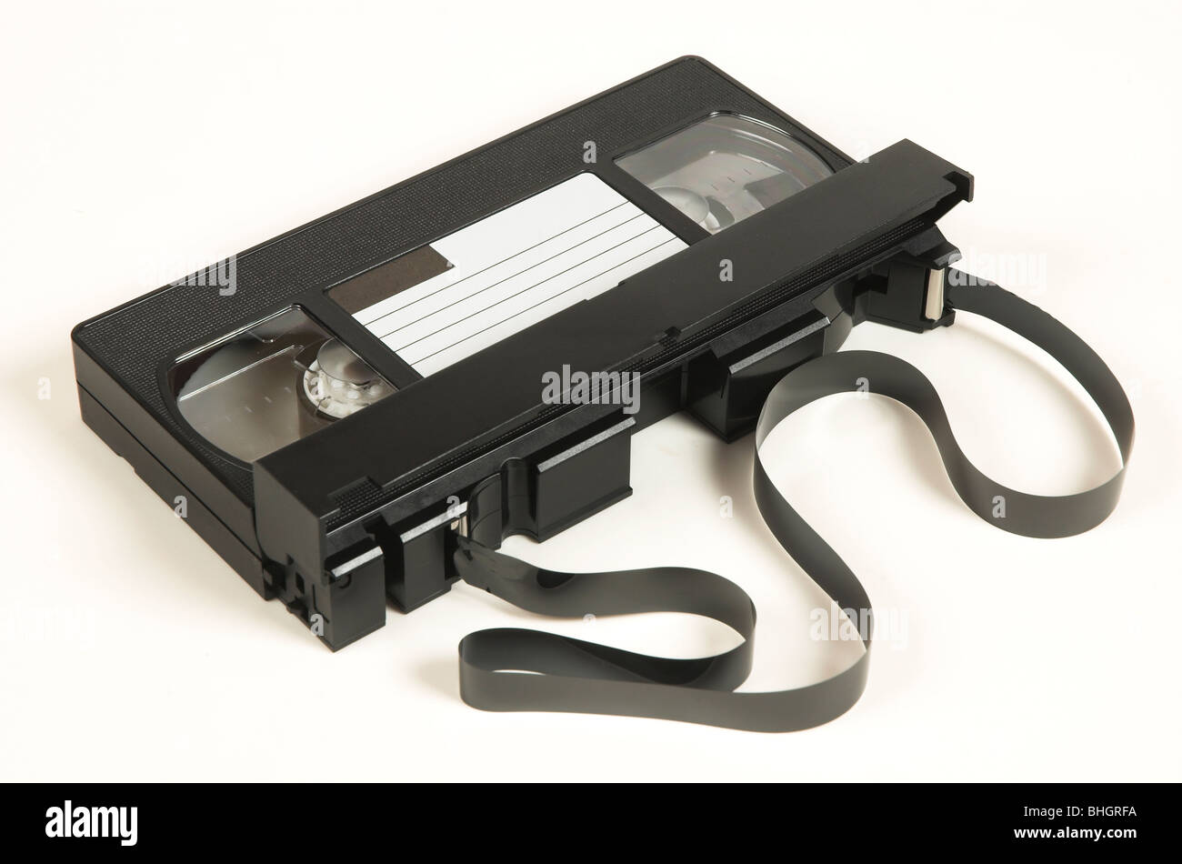 Traditional VHS Video Cassette Stock Photo