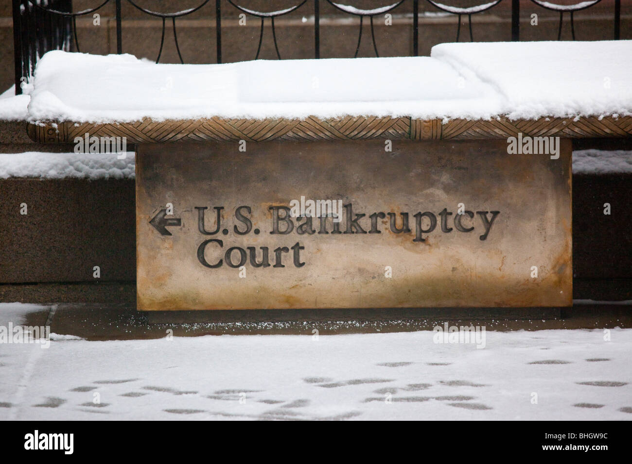 US Bankruptcy Court in lower Manhattan, New York City - Stock Image