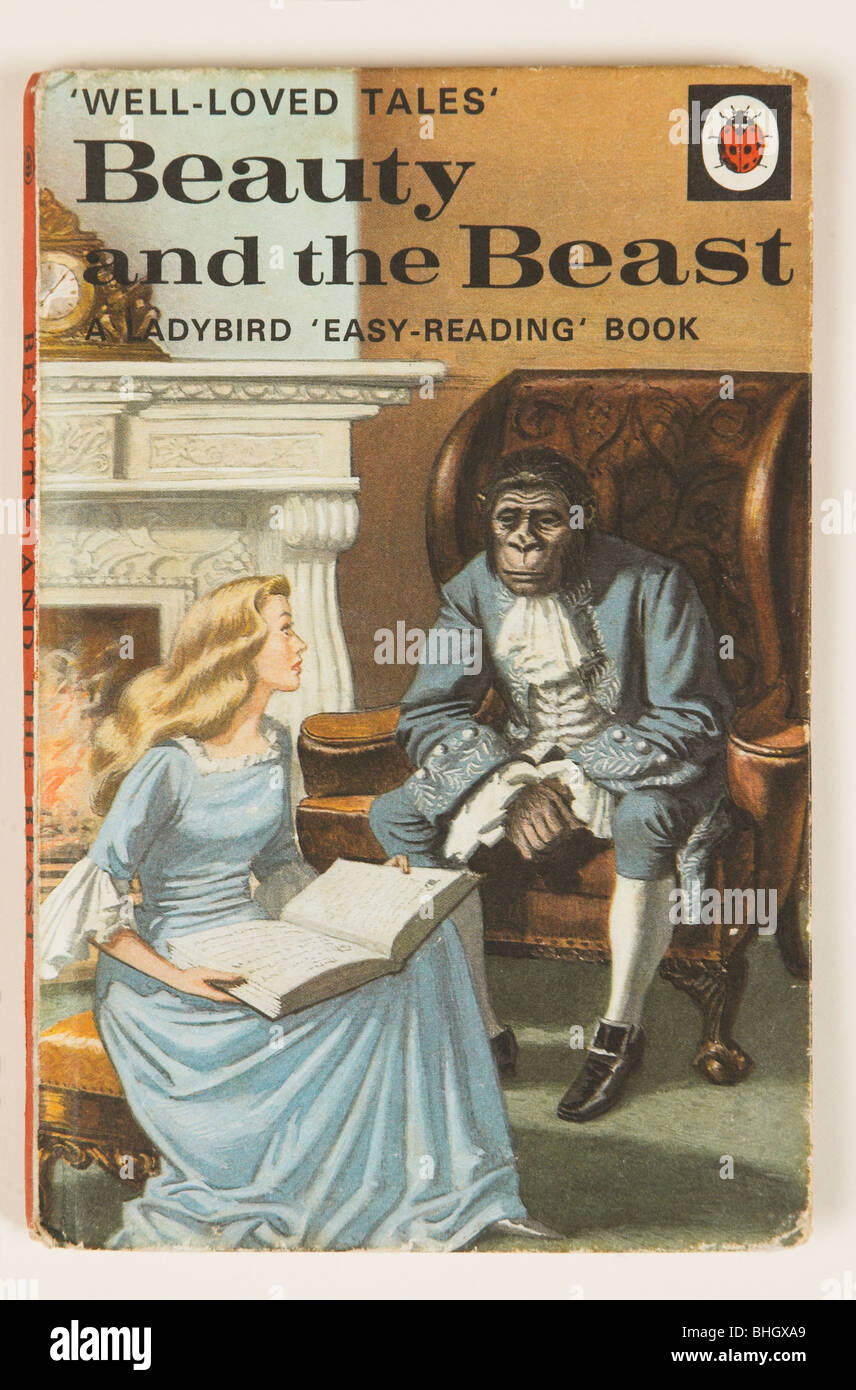 Old LadyBird Childrens Book - Beauty and the Beast - Stock Image