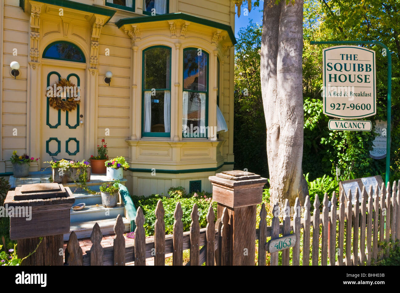 Squibb House Bed And Breakfast Cambria California Stock