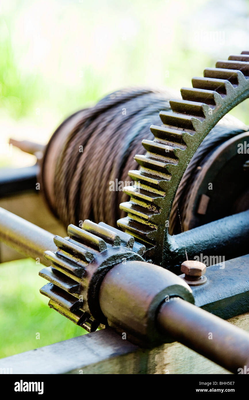 Gearwheel, close-up, Norway. - Stock Image