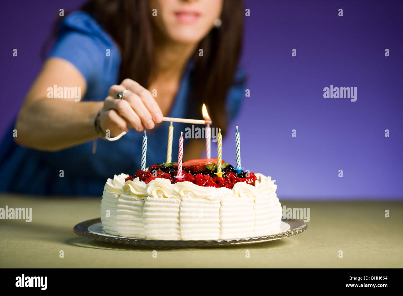 Woman With A Birthday Cake